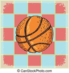 background with basketball ball