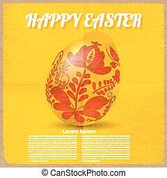 Vintage grunge background with egg