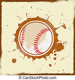 Vintage grunge baseball