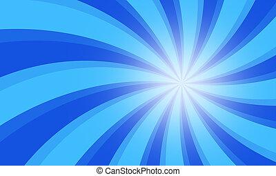 Vintage grunge blue radial lines background. Rectangle fight...