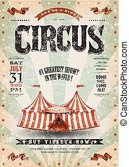 Vintage Grunge Circus Poster