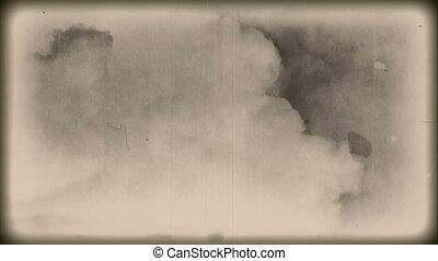 Vintage - grunge - clouds - Grunge vintage background -...