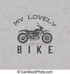 vintage grunge motorcycle graphic vector design template