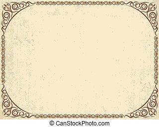 Vintage grunge paper n frame