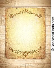 Vintage Grunge Paper With frame - vintage grunge burnt paper...