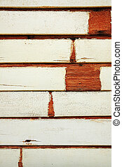 Vintage grunge stained white color on old wood