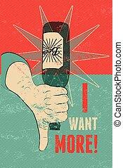 Vintage grunge style beer poster. H