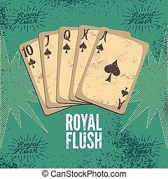 Vintage grunge style casino poster