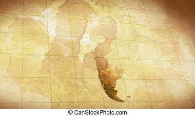 vintage grunge world map animation