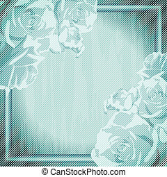 Vintage grungy frame with roses