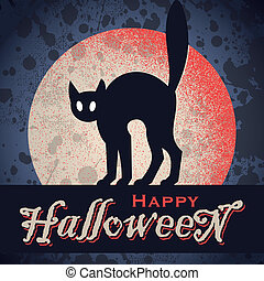 vintage grungy Halloween (vector)