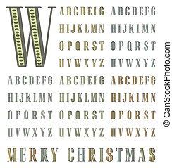Vintage halftone typeset - vector vintage halftone alphabet ...