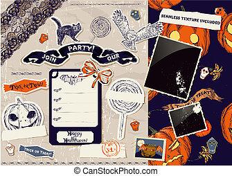 Vintage Halloween scrapbooking set.