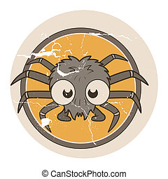 Vintage Halloween Spider Sticker