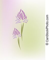 Vintage hand drawing iris vector