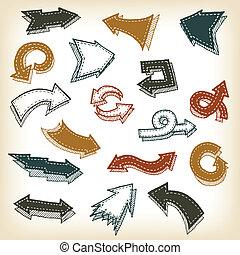Vintage Hand Drawn Arrows