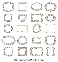 Vintage hand drawn frames for greetings and invitations