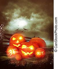 Vintage Happy Halloween Background