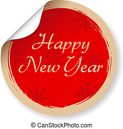 Vintage Happy New Year Label