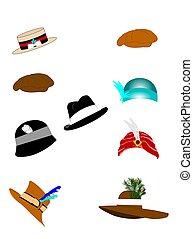 vintage hats for men and women set