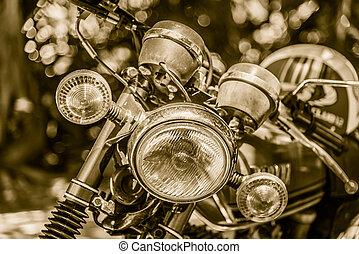 Vintage headlight lamp motorcycle