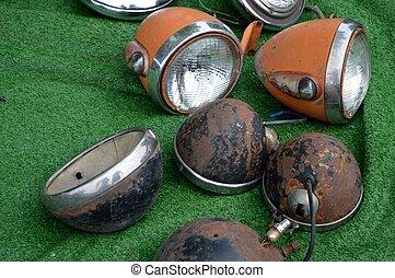 Vintage headlights - Old car parts