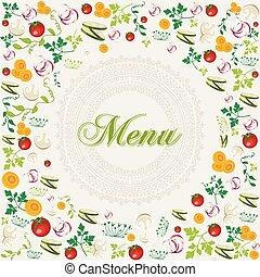 Vintage healthy food menu background