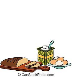 Vintage healthy meal ingredients