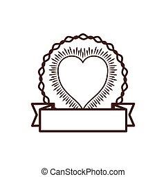 vintage heart decorative ribbon