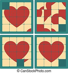 Vintage Heart Puzzle