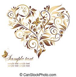 Vintage heart shape