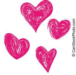 Vintage hearts logo