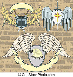 Vintage heraldic wings - The vector image Vintage heraldic...