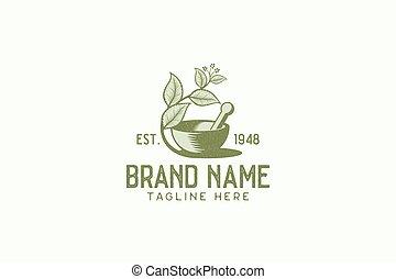 vintage herbal logo