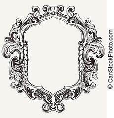 Vintage High Ornate Original Royal Frame