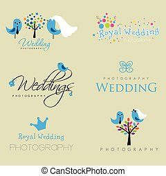 Vintage hipster logo collection for wedding photographer -...