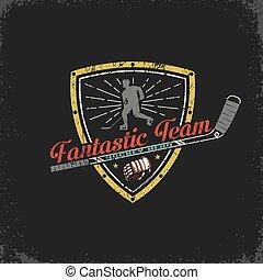 Vintage Hockey emblem