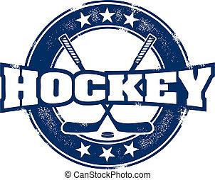 Vintage Hockey Sport Stamp