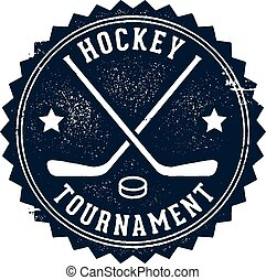 Vintage Hockey Tournament Stamp