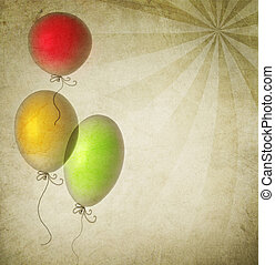 Vintage Holiday Background With Balloons