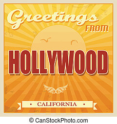 Vintage Hollywood, California poster