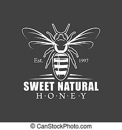 Vintage honey label