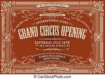 Vintage Horizontal Circus Backgroun