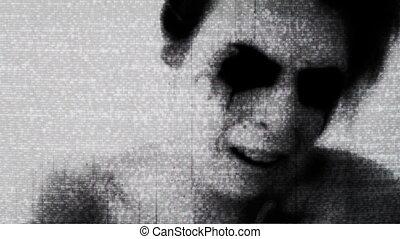 Vintage Horror Static Creepy - Vintage horror TV Static...
