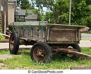 VINTAGE HORSE-DRAWN CART - antique horse-drawn cart