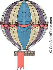 Hot Air Balloon - Vintage Hot Air Balloon. Hanging banner at...
