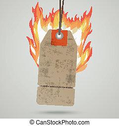 Vintage Hot Price Sticker Fire