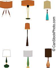 vintage houesehold lamps