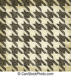 Vintage Hounds Tooth Pattern - A sketched or worn looking ...