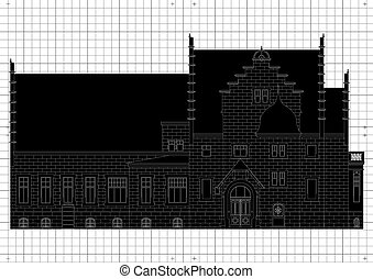 Vintage house architectural plan